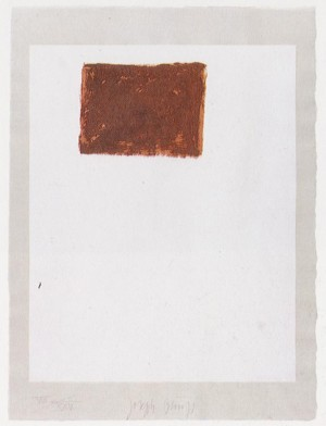 Joseph Beuys - Suite Schwurhand: Wandernde Kiste 5, 1980, lithograph on paper laid down on gray Rives wove