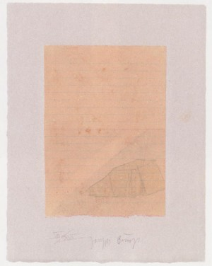 Joseph Beuys - Suite Schwurhand: Zelt und Lichstrahl, 1980, aquatint and lithograph on paper laid down on gray Arches wove