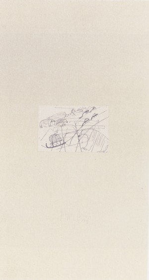 Joseph Beuys - Nordpol aus der Suite Tränen, 1985, etching on thin paper laid down on gray wove