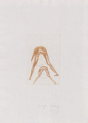 Joseph Beuys - Petticoat aus der Suite Tränen, 1985, color etching on white wove
