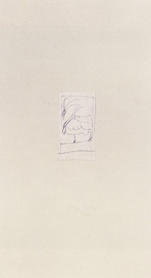 Joseph Beuys - Riesenziegen aus der Suite Tränen, 1985, etching on thin paper laid down on gray wove