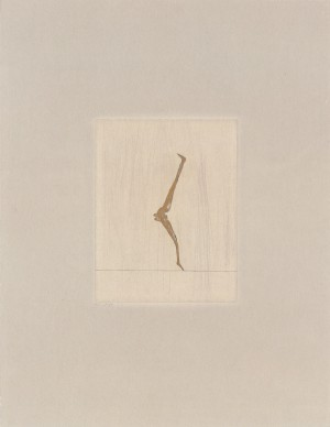 Joseph Beuys - Seiltänzerin aus der Suite Tränen, 1985, color etching on thin paper laid down on gray wove