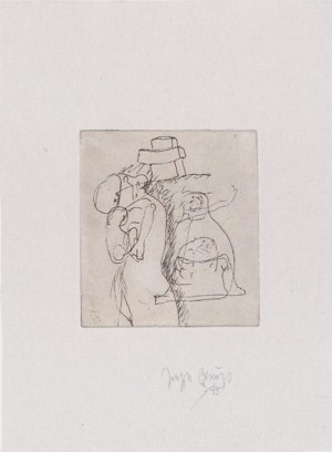 Joseph Beuys - Suite Zirkulationszeit: die Mütter, 1982, etching on white wove