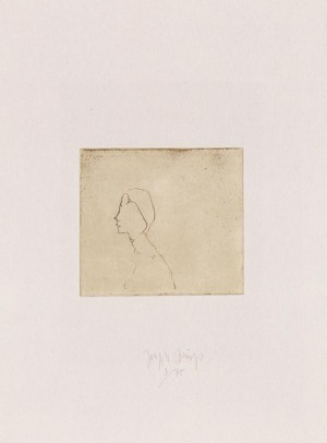 Joseph Beuys - Suite Zirkulationszeit: Kopf H.B., 1982, etching on white wove