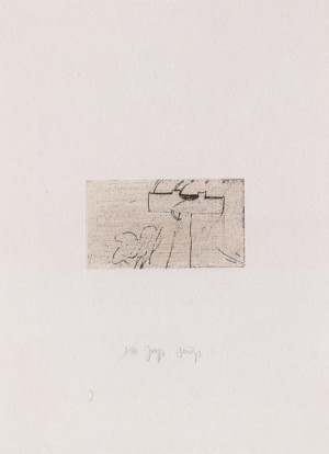 Joseph Beuys - Suite Zirkulationszeit: Kreuz des Saturn, 1982, etching and drypoint on white wove