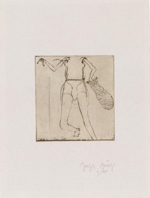 Joseph Beuys - Suite Zirkulationszeit: Taucherin, 1982, etching on white wove