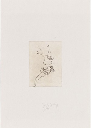 Joseph Beuys - Suite Zirkulationszeit: Topfspiel, 1982, etching on white wove