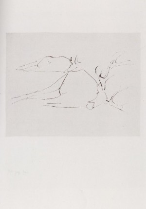 Joseph Beuys - Suite Zirkulationszeit: tote Hirsche, 1982, etching on white wove