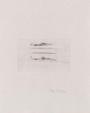 Joseph Beuys - Suite Zirkulationszeit: Urschlitten 1, 1982, etching and drypoint on white wove