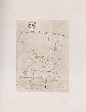 Joseph Beuys - Suite Zirkulationszeit: Zirkulationszeit, 1982, etching à la poupée on white wove