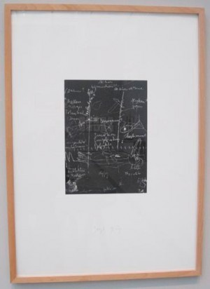 Joseph Beuys - Tafel III, 1980, silkscreen on cardstock