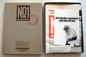 Joseph Beuys - Title Unknown,[Description: Abendunterhaltung Mit Joseph Beuys], box, postcard, newspaper and poster