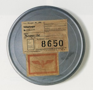 Joseph Beuys - Transsibirische Bahn, 1980, 16 mm film in metal can with stickers, stamped