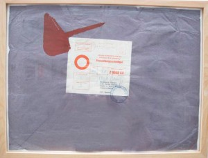 Joseph Beuys - Vorwärts, 1977, packing paper with silkscreen, stamped