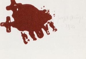 Joseph Beuys - Zeichen aus dem Braunraum, 1984, one of eight silkscreen on paper, in portfolio