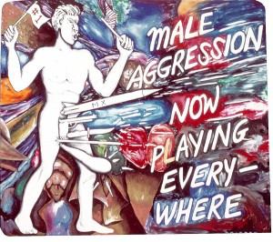 Jonathan Borofsky - Male Aggression Now Playing Everywhere at 2,968,937, 1986