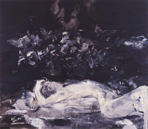 Cecily Brown - Black Painting I, 2002, oil on linen