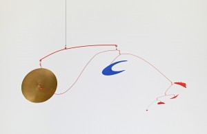 Alexander Calder - The Brass Gong, 1948, painted sheet metal and rod with brass disc