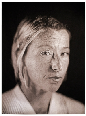 Chuck Close - Cindy, 2006, Jacquard tapestry