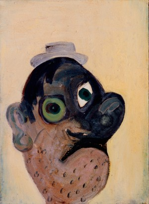 George Condo - White Eyes, 1985, oil on canvas