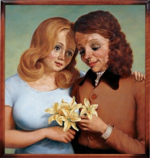 John Currin - Daughter and Mother, 1997, oil on canvas
