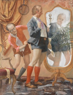 John Currin - Hot Pants, 2010, oil on canvas