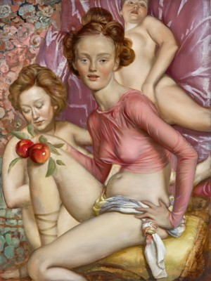 John Currin - Maenads, 2015, oil on canvas