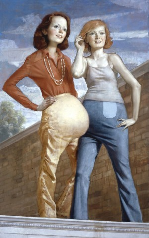 John Currin - Patch and Pearl, 2006, oil on canvas