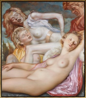 John Currin - The Storm, 2013, oil on canvas
