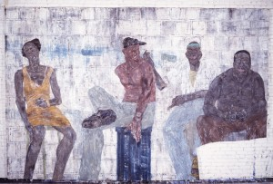 Leon Golub - Four Blacks, 1985, acrylic on canvas