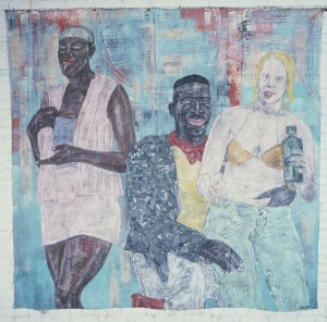 Leon Golub - Horsing Around III, 1983, acrylic on linen