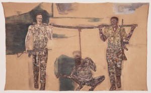 Leon Golub - Mercenaries I, 1976, acrylic on linen