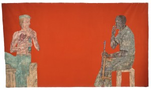 Leon Golub - Mercenaries III, 1980, acrylic on linen