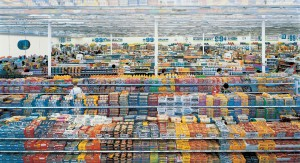 Andreas Gursky - 99 Cent, 1999, chromogenic print mounted on Plexiglas in artist's frame