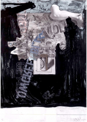 Jasper Johns - Decoy, 1971, lithograph with die cut