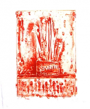 Jasper Johns - Savarin 3 (Red), 1978-79, lithograph on Richard de Bas paper