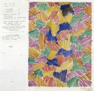 Jasper Johns - Untitled (Study for Cicada), 1978, watercolor, graphite and ink on paper