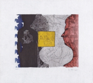 Jasper Johns - Untitled, 2010, spit-bite aquatint, soft-ground, drypoint, and photogravure