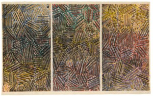 Jasper Johns - Usuyuki, 1995, watercolor and pencil on paper