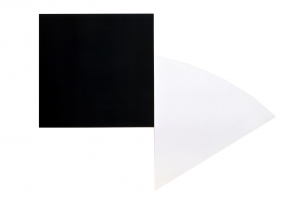 Ellsworth Kelly - Black Panel with White Curve III, 1989