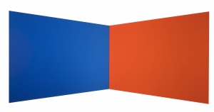 Ellsworth Kelly - Blue Red, 1968, oil on canvas, two joined panels