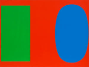 Ellsworth Kelly - Green Blue Red, 1963, oil on canvas