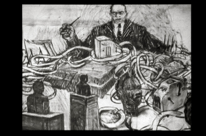 William Kentridge - Mine, 1991, 16mm animated film