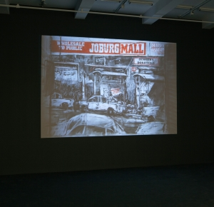 William Kentridge - Other Faces, 2011, 35 mm film transferred to DVD and hard drive; 9 min 54 sec looped, with sound