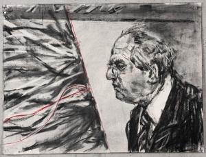 William Kentridge - Drawing for 'Other Faces', 2011, charcoal and colored pencil on on paper