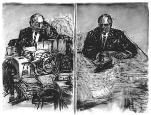 William Kentridge - Stereoscope, 1999, film with sound transferred to Betacam and DVD