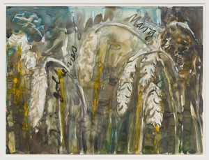 Anselm Kiefer - Dein Goldenes Haar, Margarete, 1983, watercolor on paper