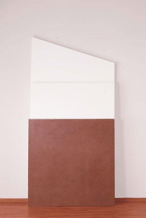 Imi Knoebel - vivis, 1987, acrylic on plywood and fiberboard in three parts