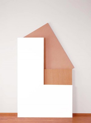 Imi Knoebel - vivit, 1987, acrylic on plywood, Limba and birch in three parts