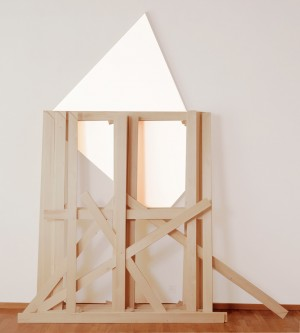 Imi Knoebel - vivimus, 1987, acrylic on plywood and wood stretchers